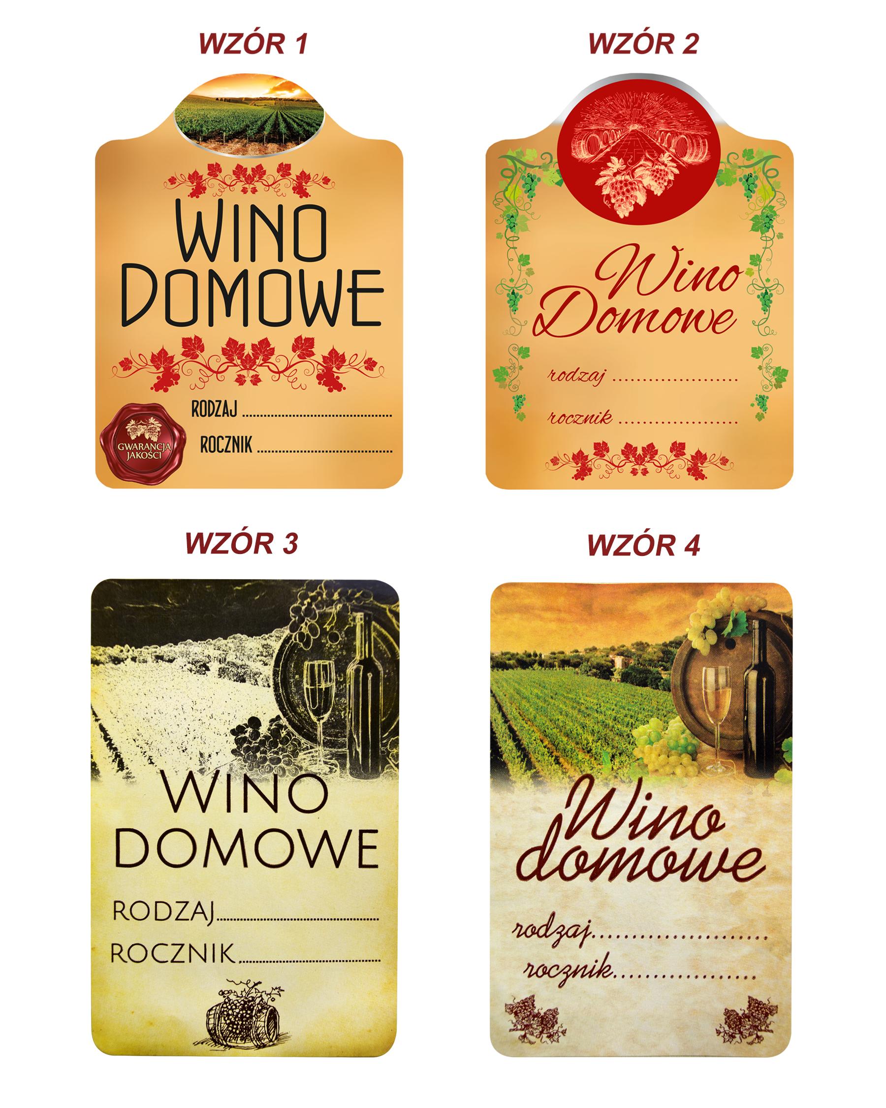 20 Szt Etykiety Na Wino Domowe Samoprzylepne Superbutelki Pl