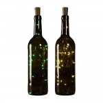 BUTELKA BORDEAUX 750 ML Z KORKIEM LAMPKI LED